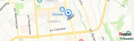 Сантор на карте Алматы