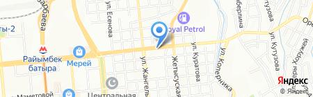 АЗС Total Asia на карте Алматы