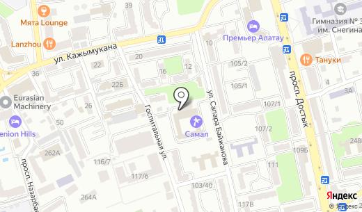 КОРЕ. Схема проезда в Алматы