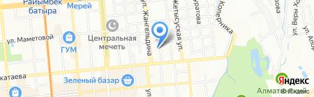 Нина на карте Алматы