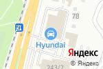 Схема проезда до компании Hyundai Auto Almaty в Алматы