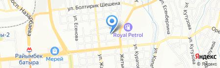 Алматинская ювелирная фабрика на карте Алматы