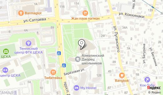 Нур Отан партия. Схема проезда в Алматы