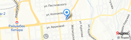 Управление по делам обороны Медеуского района на карте Алматы
