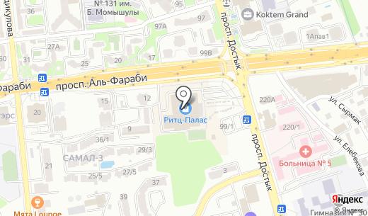 Kapitoliya. Схема проезда в Алматы