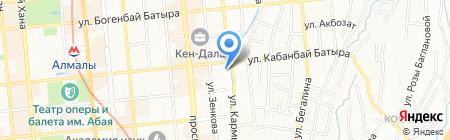 Алтын Ай на карте Алматы