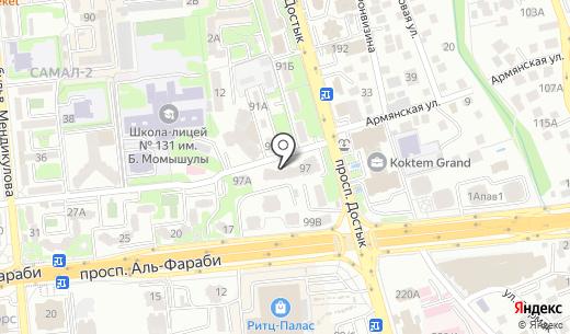 Сбербанк. Схема проезда в Алматы