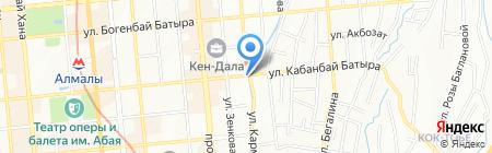 Алтынай продуктовый магазин на карте Алматы