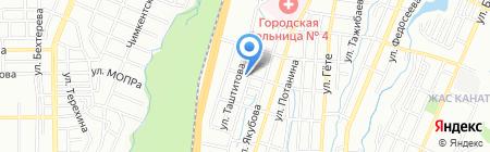 Азат продовольственный магазин на карте Алматы