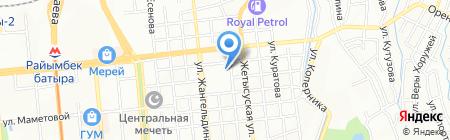 Ахыска на карте Алматы