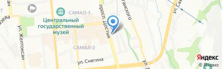 Казинвестбанк на карте Алматы