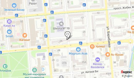 Банк ЦентрКредит. Схема проезда в Алматы