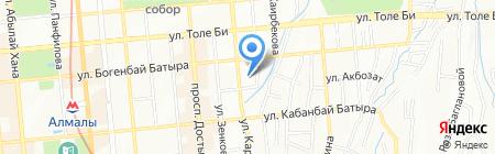 Ясли-сад №156 на карте Алматы