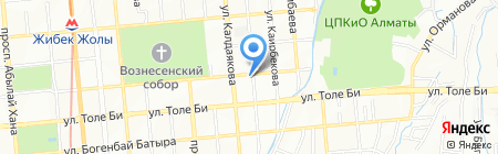 Султан на карте Алматы