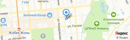 Нотариус Быкова Н.А. на карте Алматы