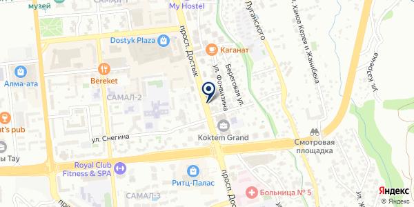 Евразийский Центр Скорочтения, ТОО на карте Алматы