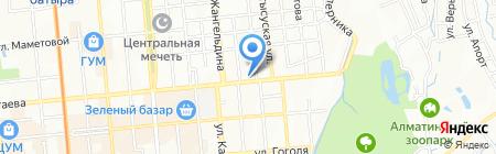 Шашлычок на Пастера на карте Алматы