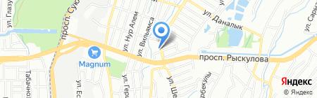 Расул на карте Алматы