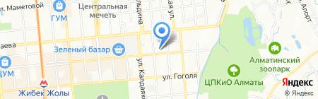 Улар на карте Алматы