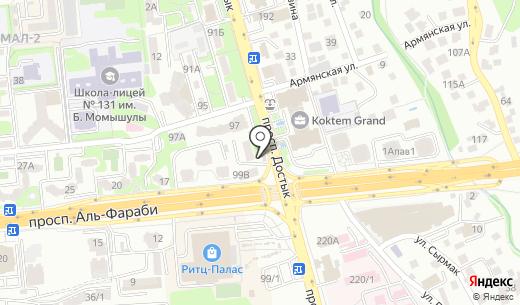 Чи-то. Схема проезда в Алматы