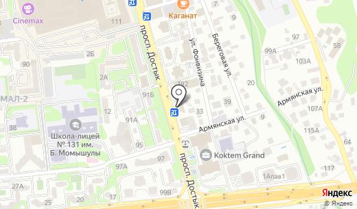 Китайская Народная Республика. Схема проезда в Алматы