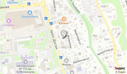 Shergala Security. Схема проезда в Алматы