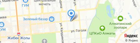 Алима на карте Алматы