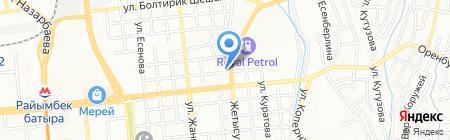 Бледа на карте Алматы