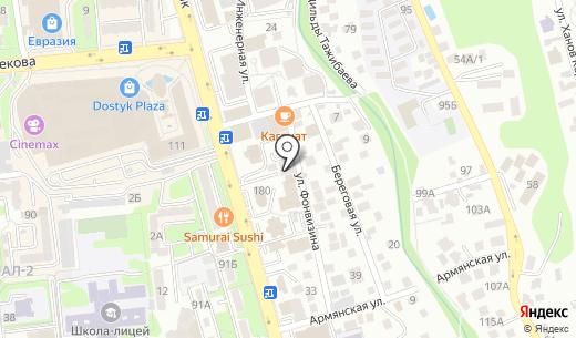 CAPro. Схема проезда в Алматы