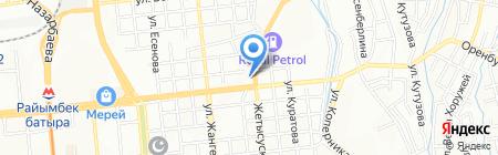 Гыньяз на карте Алматы