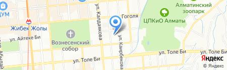 Радость тела на карте Алматы