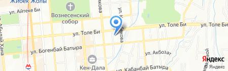 Нотариус Молбаева Г.Т. на карте Алматы