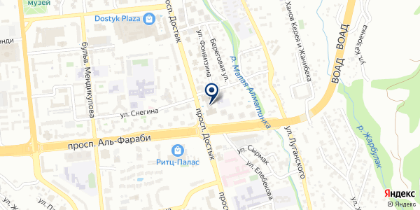 Миракл Мед на карте Алматы