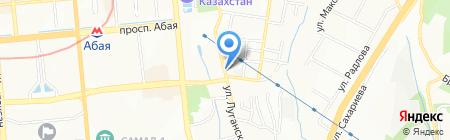 Автомойка на ул. Луганского на карте Алматы