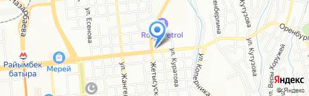 Хлебный продуктовый магазин на карте Алматы