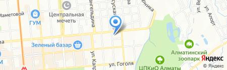 Казахстанская швейная компания ТОО на карте Алматы