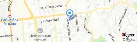 АЛТЫНКО на карте Алматы