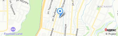 Хладо на карте Алматы