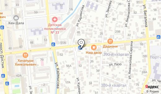 Арафат. Схема проезда в Алматы