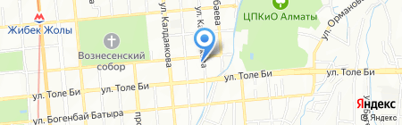 Алан Авто на карте Алматы
