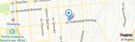 Лира на карте Алматы