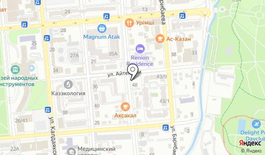 Moda.up.kz. Схема проезда в Алматы