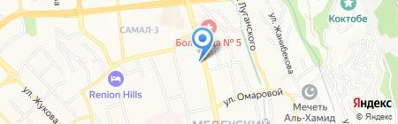 Продуктовый магазин на проспекте Достык на карте Алматы