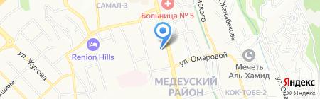 Кун-Сауле на карте Алматы