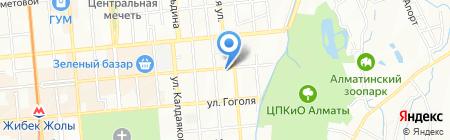 Пункт ремонта обуви на проспекте Жибек Жолы на карте Алматы