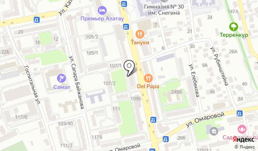 Магазин. Схема проезда в Алматы