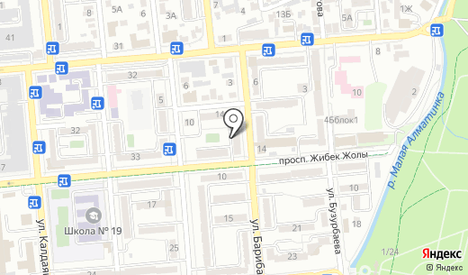 Аргус Контакт. Схема проезда в Алматы
