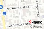 Схема проезда до компании Ассер в Алматы