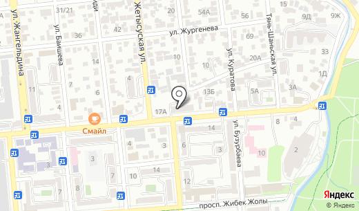 Столовая на ул. Макатаева. Схема проезда в Алматы