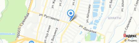 Вдали от жен на карте Алматы